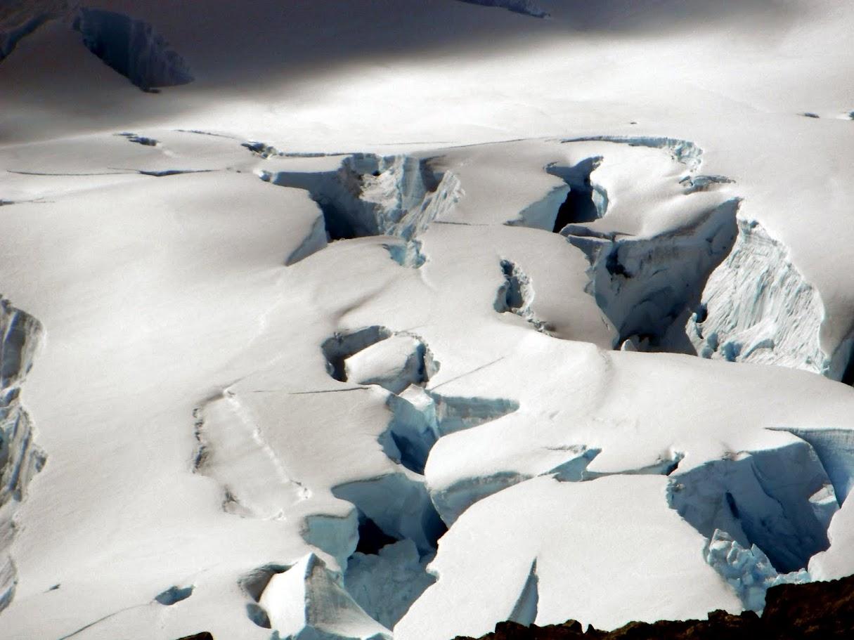 Antarctic explorers encountered crevasses like these